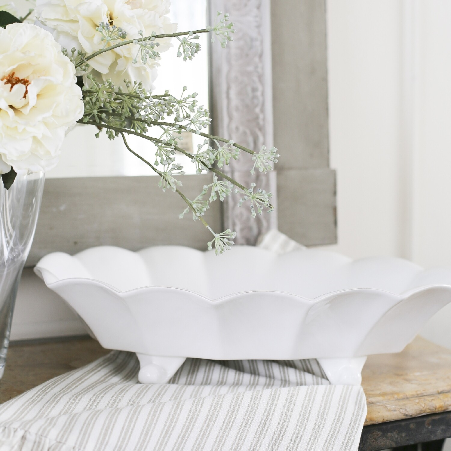 TRS Footed Serving Bowl Chartes