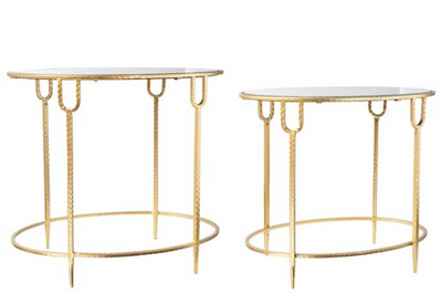 UT Round Glass Top Accent Table Large