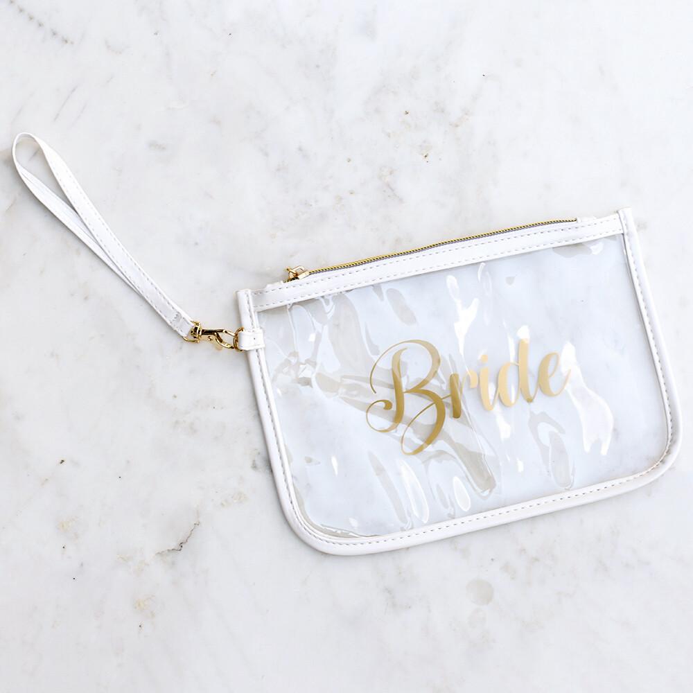 TRS Bride Wristlet Clear