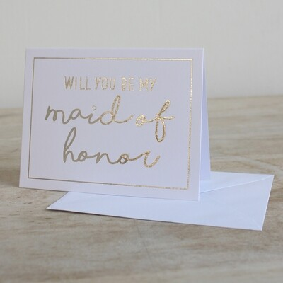 TRS Maid Of Honor Note Cards