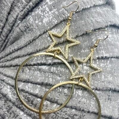SJ Earrings Nashville Star Hoops