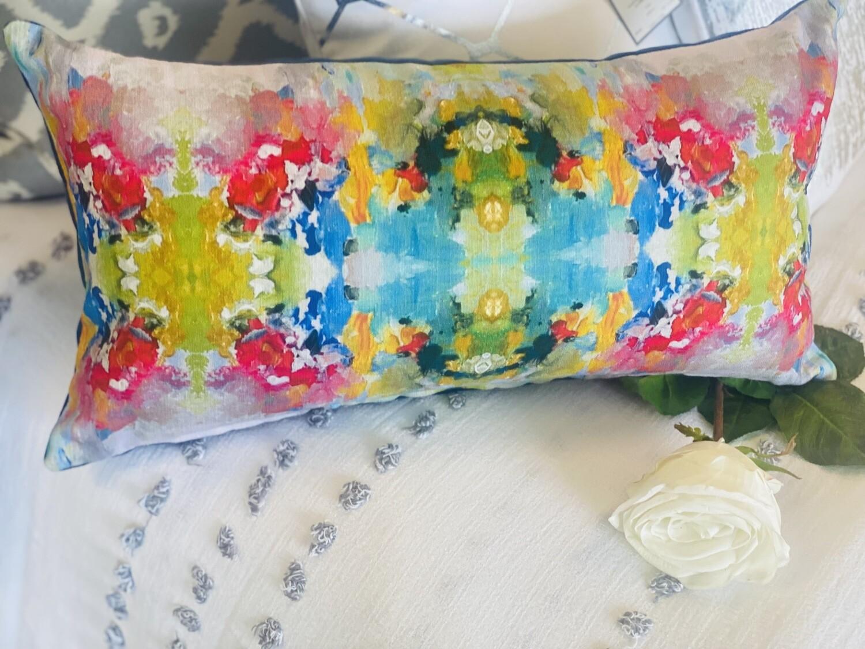 Watercolor Rectangle Pillow