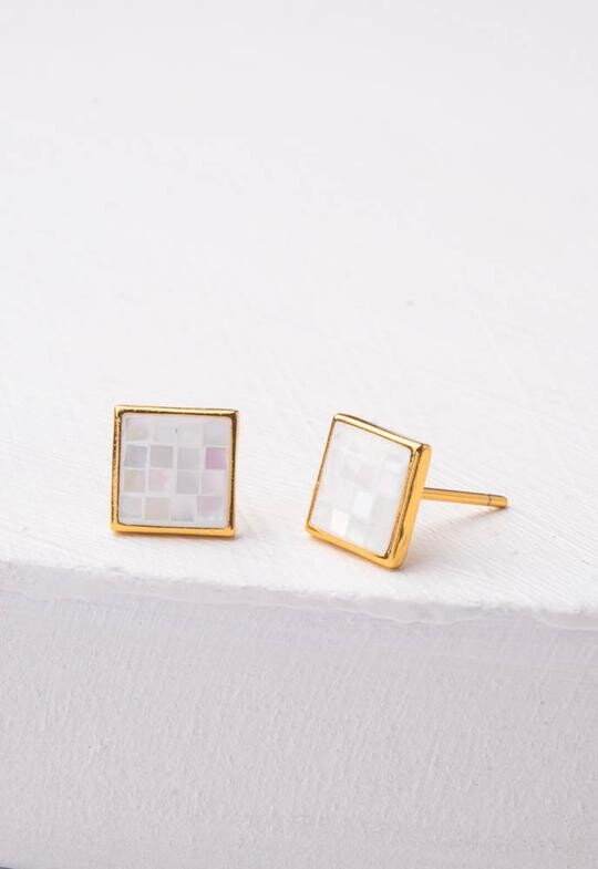 SP Delighted-in Mother of Pearl Earrings