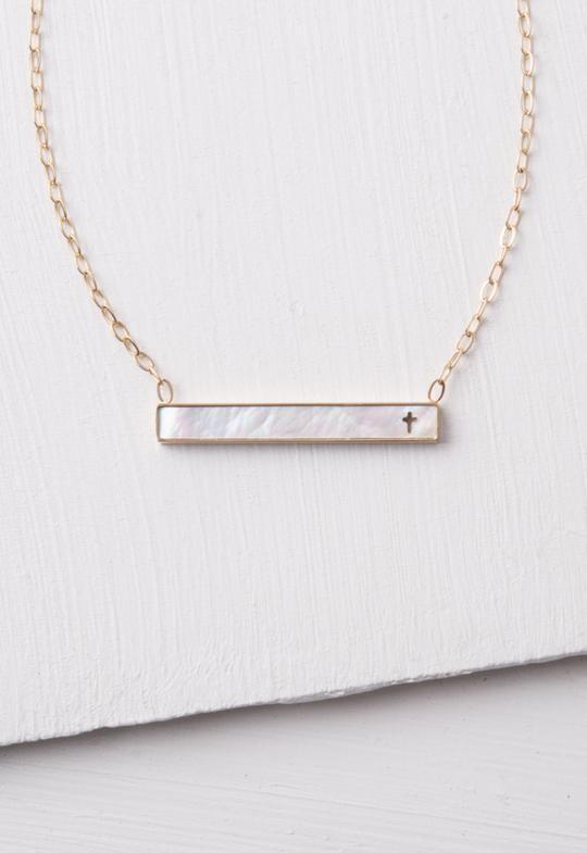 SP Lenore Cross Bar Necklace