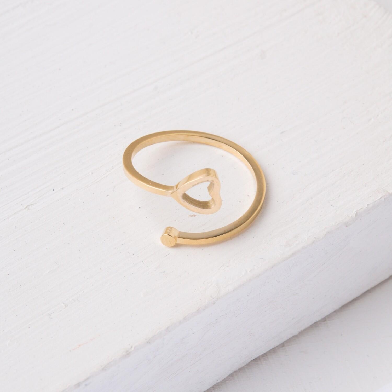 SP Ada Gold Heart Ring
