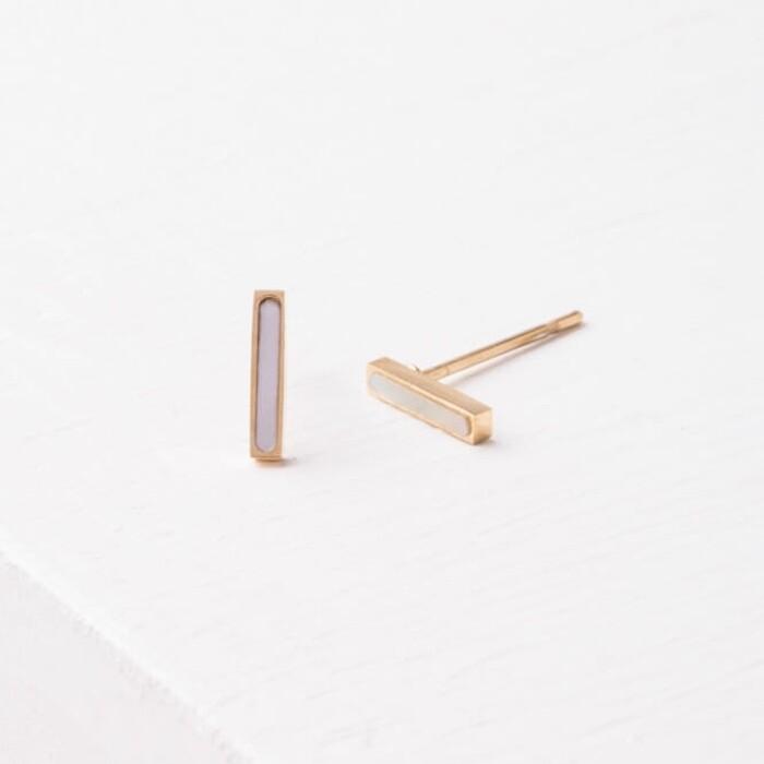 SP Lori Bar Stud Earrings