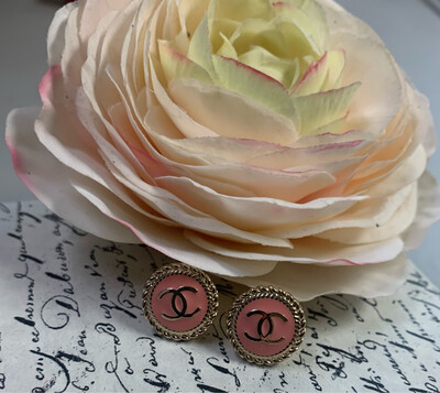 Designer Earrings Pink Studs CC
