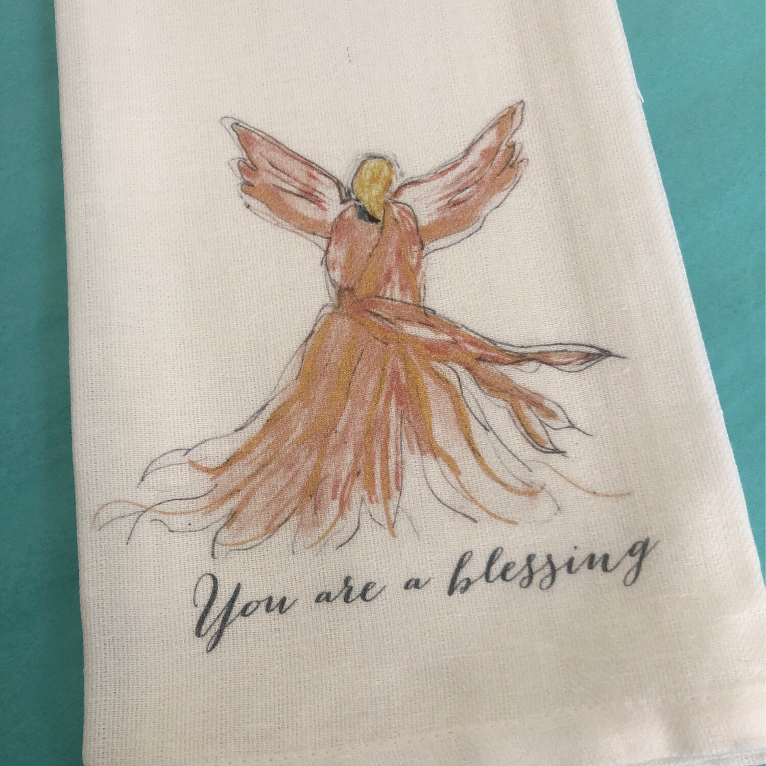 FG Cotton Towel Pink Blessings Angel