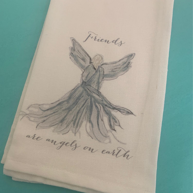 FG Cotton Towel Turq Angel Friends