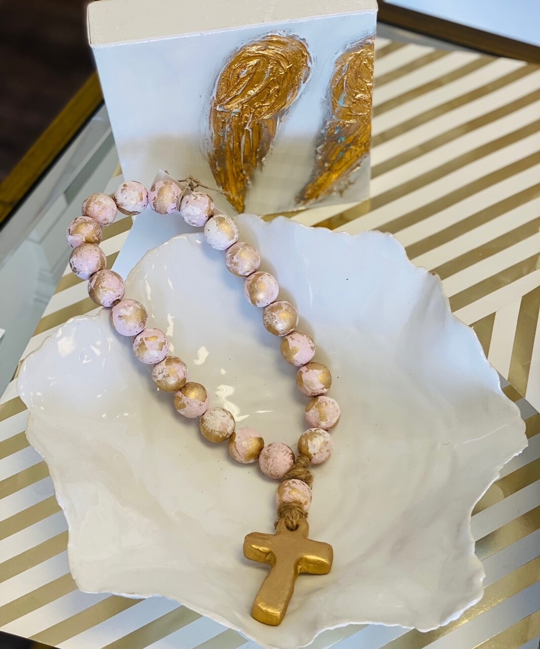 """SS Blessing Bead Small 12"""" Pink"""