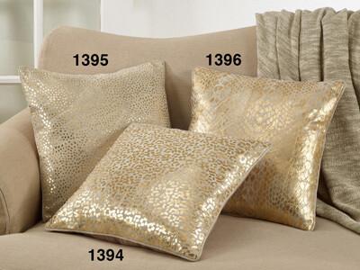 SS 1394 18x18 Pillow Cover Leopard Foil Print