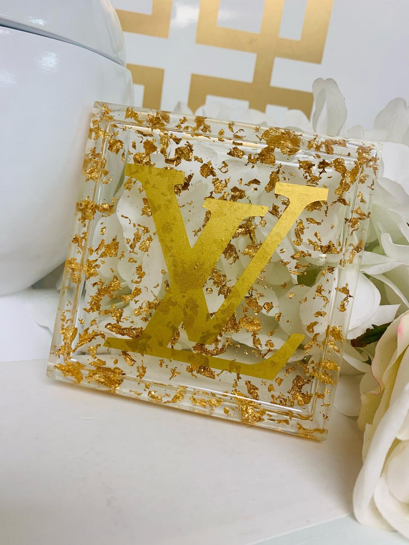 Acrylic Coaster LV Gold
