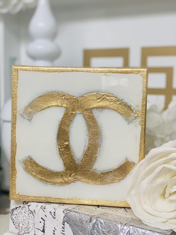 6x6 Designer Painting Gold Trim CC