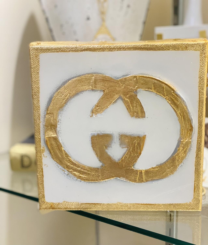 6x6 Designer Painting Gold Trim GG