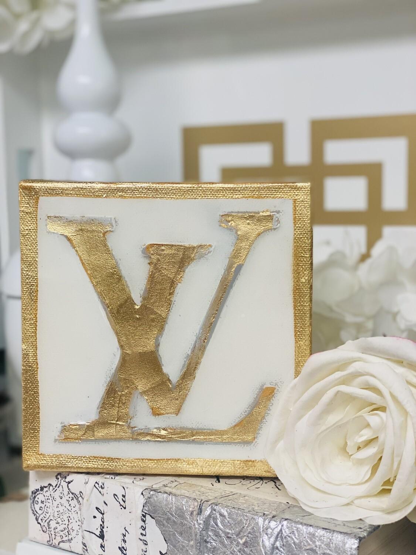 6x6 Designer Painting Gold Trim LV