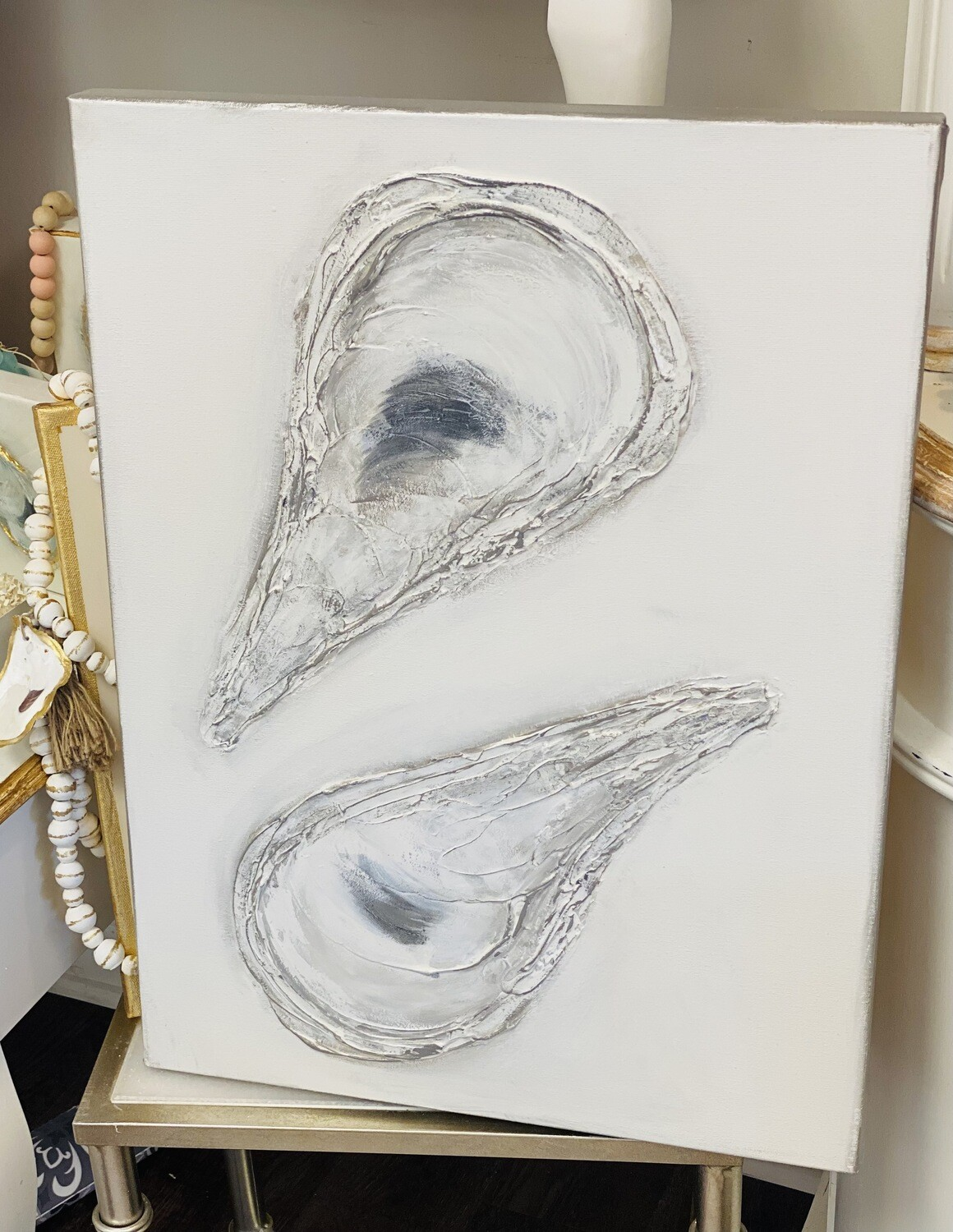 18x24 Oyster Painting Grey