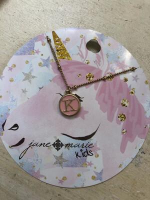 JM Initial Necklace Unicorn K