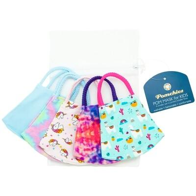 Pomchies Mask Kids Single Blue Tie Dye