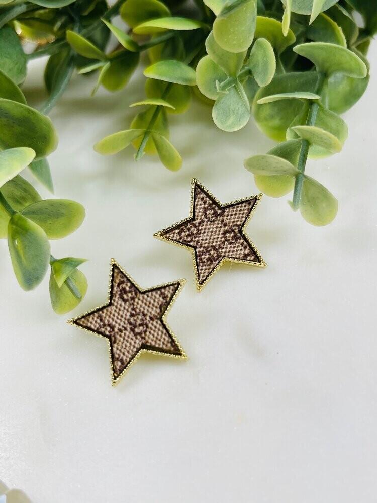 SJ Designer Earrings Star Studs GG