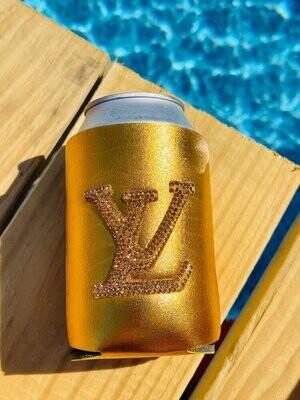 SJ Designer Koozie Gold LV