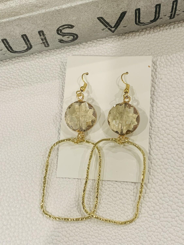 SJ Earrings Rectangle Jewel