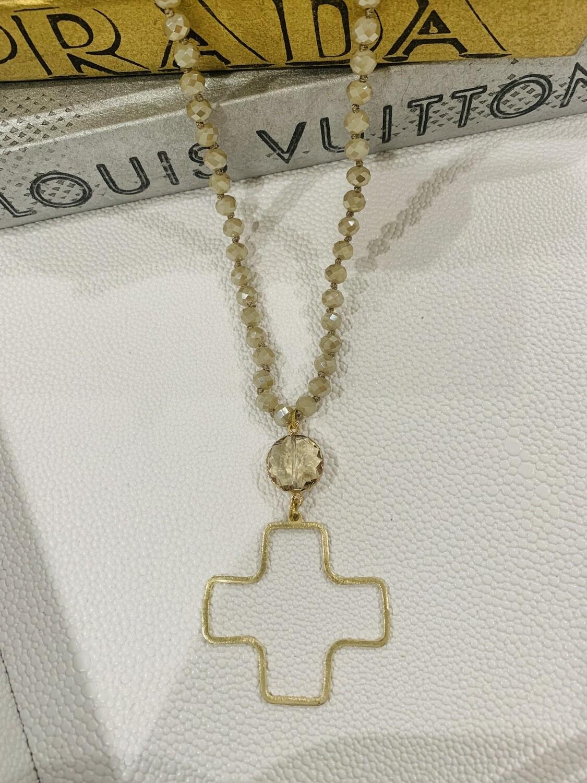 SJ Necklace Cross Jewel