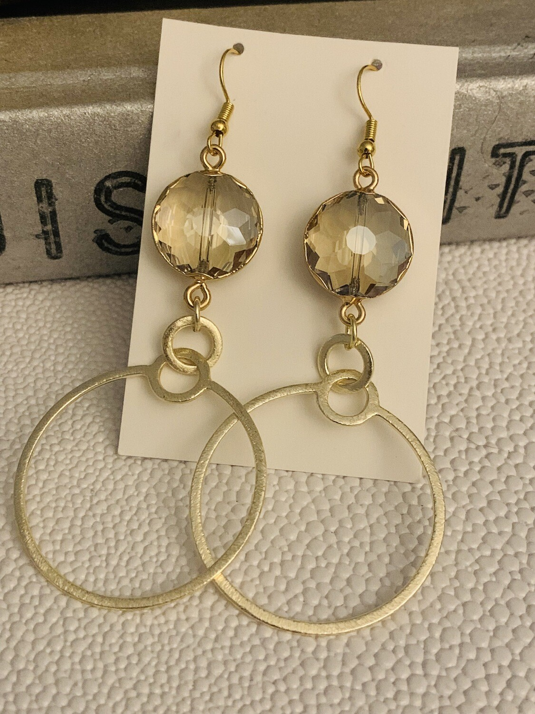 SJ Earrings Double Circle Jewel