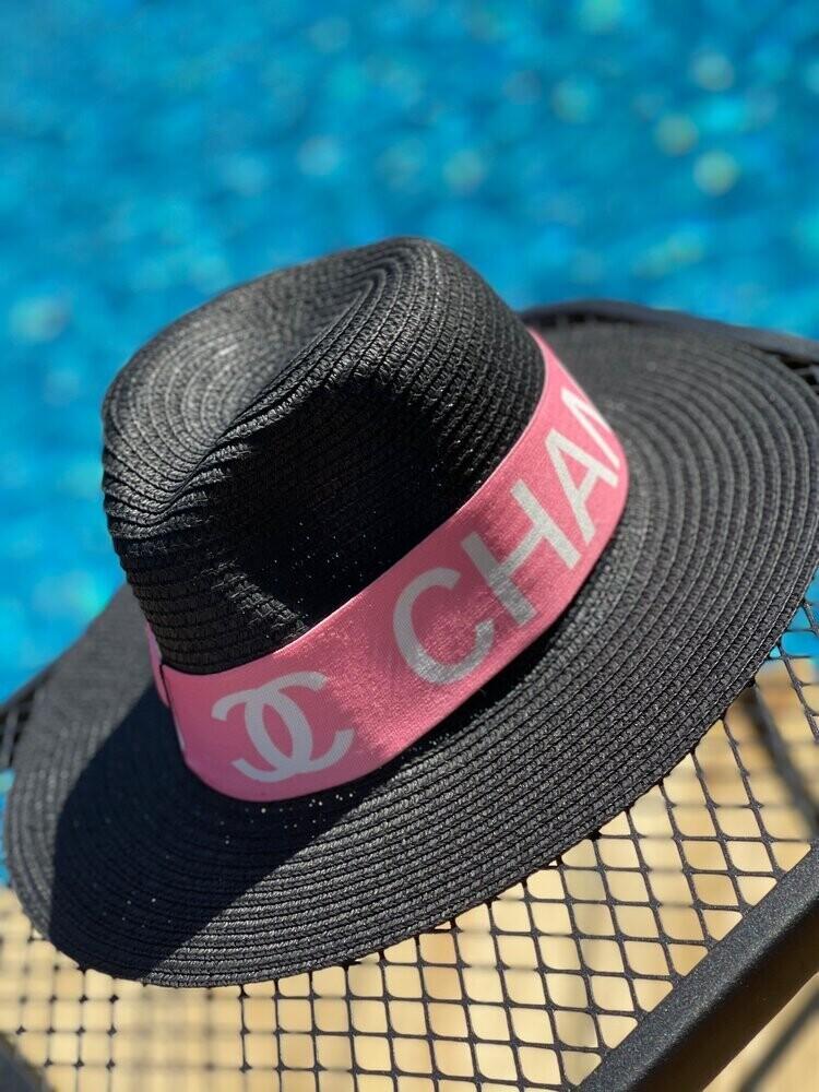 Designer Stretch Headband Pink Chanel