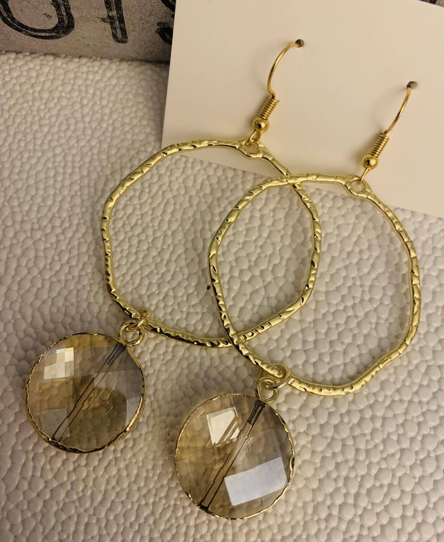 SJ Earrings Circle Jewel
