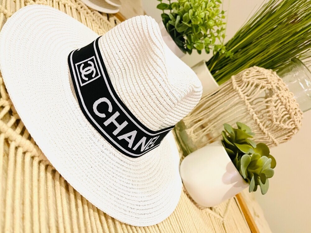 Designer Stretch Headband Black Chanel