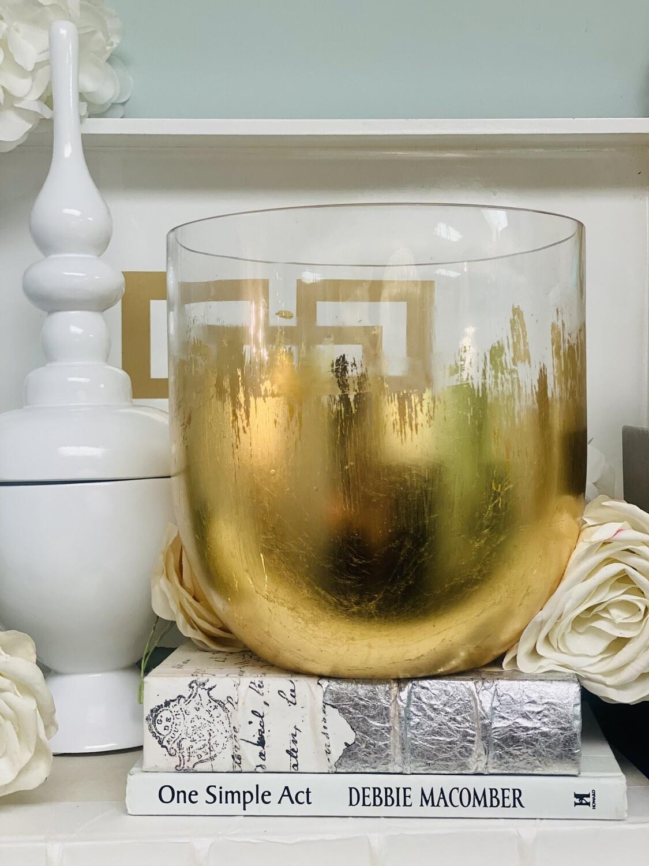 """Gold Gild Round Vase 8"""""""