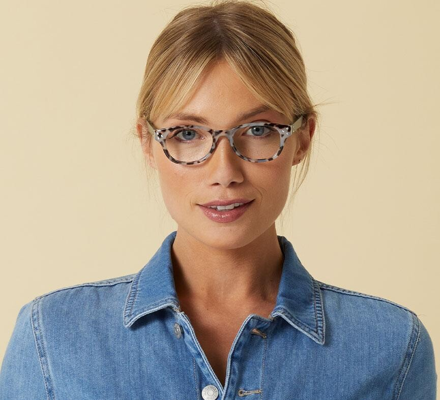 Peepers Readers Showstopper Gray Tortoise/Green +1.25