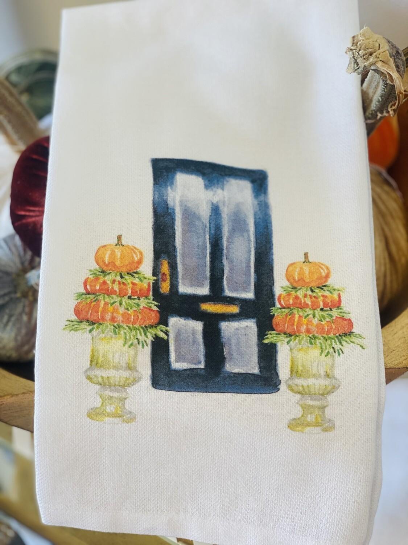 FG Cotton Towel Black Door Pumpkin