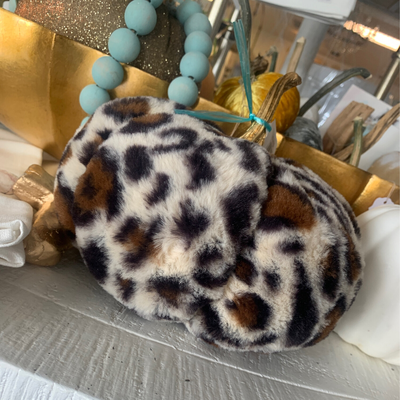 Fabric Leopard Pumpkin Large