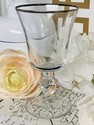Silver Rim Goblet
