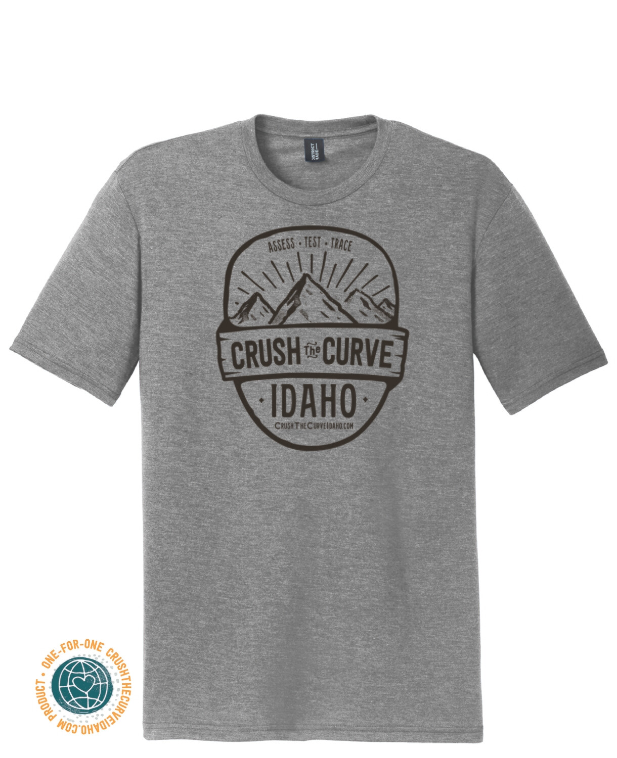 Crush The Curve Grey Tee