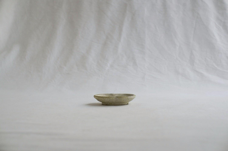 錆粉引 豆皿