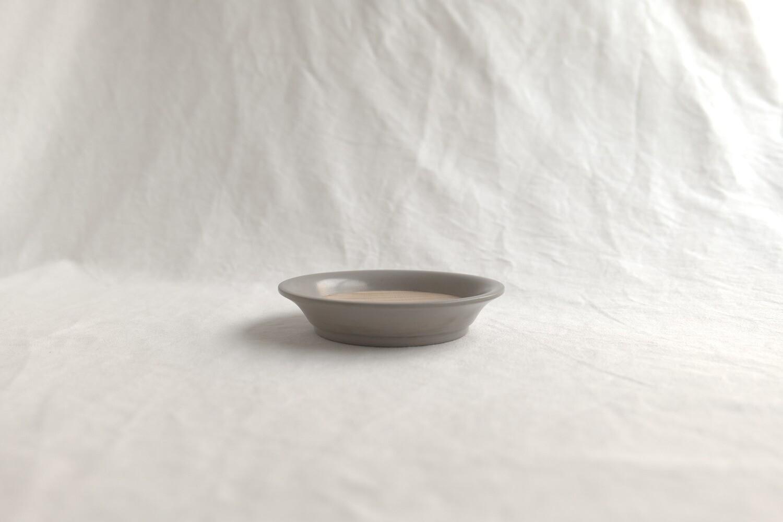 栃杢 塗り分け菓子皿