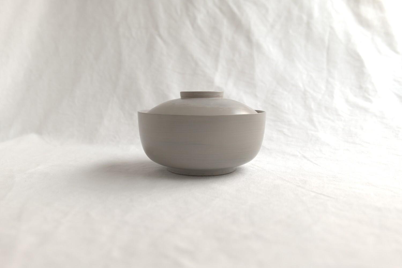 白漆丼鉢(蓋つき)