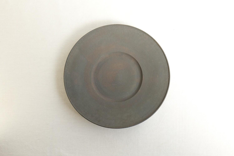 錆銀彩デルフト皿