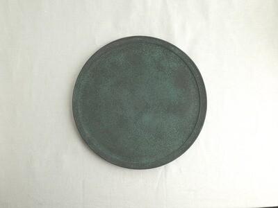 緑青 平皿