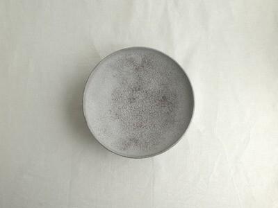 灰白 赤 八寸鉢