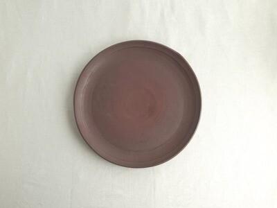焼締 赤 平皿