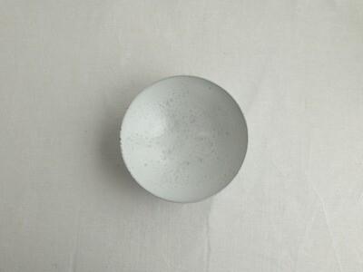 白釉 六寸鉢