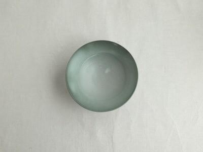 緑白釉 六寸平鉢