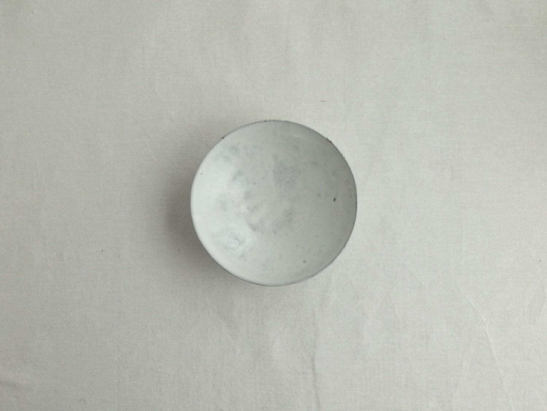 白釉 五寸鉢