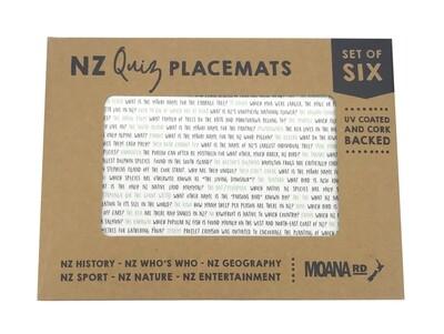 NZ Quiz Placemats