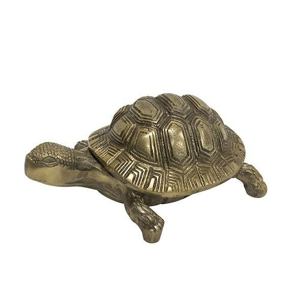 Antique Gold Turtle Box