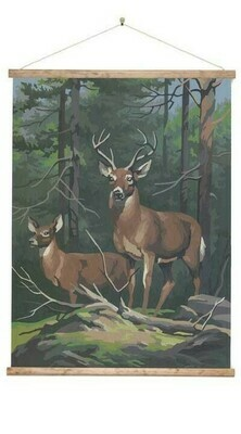 Stag Paint by Numbers Large Wall Chart