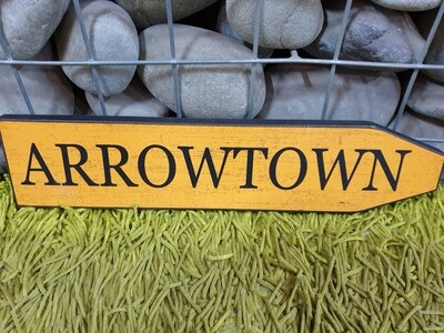 Arrowtown Wooden Plaque